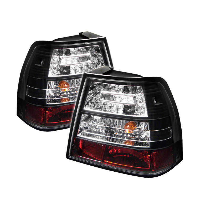 Volkswagen Jetta 1994-2004  Black LED Tail Lights