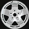 Dodge Dakota 2005-2007 17x8 Black Chrome Factory Replacement Wheels