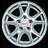 2000 Chevrolet Camaro  16x8 Bright Silver Factory Replacement Wheels