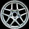 2002 Chevrolet Corvette  17x9.5 Silver Factory Replacement Wheels