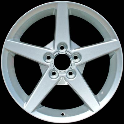 Chevrolet Corvette 2005-2007 19x10 Silver Factory Replacement Wheels