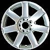 2001 Bmw 3 Series  17x8 Silver Factory Replacement Wheels