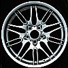 2002 Bmw 5 Series  18x8 Hyper Silver Factory Replacement Wheels