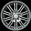 2003 Bmw 3 Series  18x8 Hyper Silver Factory Replacement Wheels