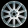 2003 Bmw 7 Series  19x9 Black Chrome Factory Replacement Wheels
