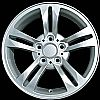 2008 Bmw X3  17x8 Silver Factory Replacement Wheels