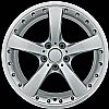 2008 Bmw 3 Series  19x8 Silver Factory Replacement Wheels