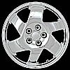 1998 Mitsubishi 3000gt  17x8.5 Chrome Factory Replacement Wheels