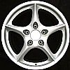 2002 Porsche 911  18x8 Silver Factory Replacement Wheels