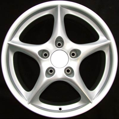Porsche 911 2002-2005 18x8 Silver Factory Replacement Wheels