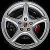 2005 Porsche 911  19x8 Silver Factory Replacement Wheels