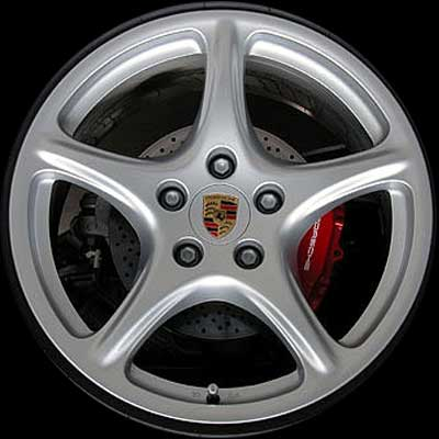 Porsche 911 2005-2008 19x11 Silver Factory Replacement Wheels