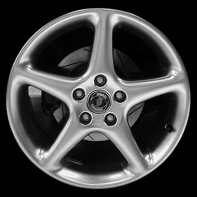 Saab 9.3 1999-2002 17x7.5 Hyper Silver Factory Replacement Wheel