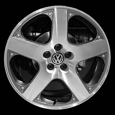 Volkswagen Golf 2001-2006 17x7 Silver Factory Replacement Wheels