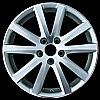 2008 Volkswagen Passat  17x7.5 Silver Factory Replacement Wheels