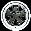 1988 Porsche 911  16x8 Black Factory Replacement Wheels