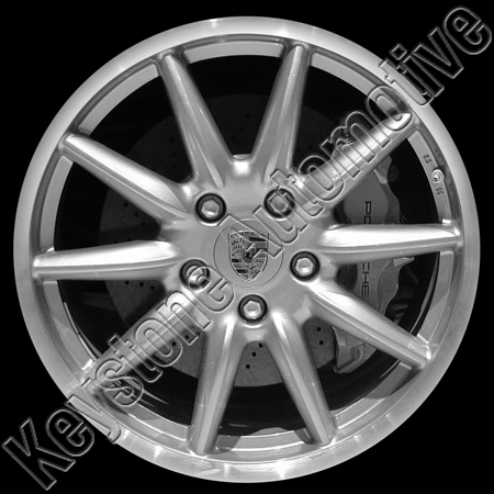 Porsche 911 2006-2007 19x8.5 Silver Factory Replacement Wheel