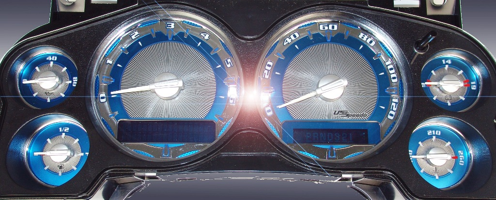 Chevrolet Silverado 2007-2009  Mph All Models Aquamariner  Ltd. Edition Gauges