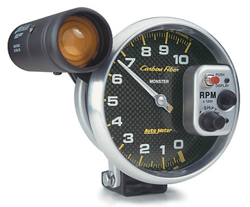 Auto Meter 5 in. Monster Carbon Fiber Tachometer w/Shift Lite