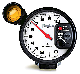Auto Meter 5 in. Phantom Series 5 Monster Shift-Lite Tachometer