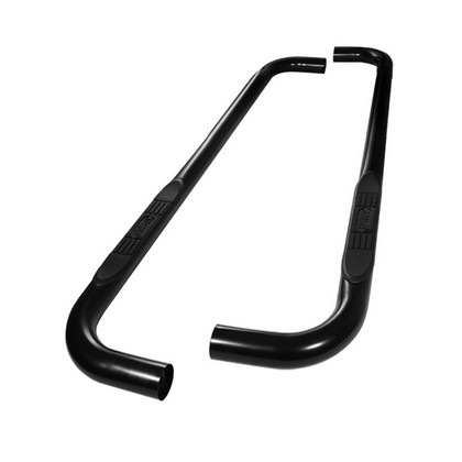 "1988-1998 Chevrolet Full Size Pickup  Reg Cab 3"" Round Black Powder Coated Nerf Bars"