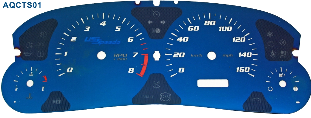 Cadillac Cts 2005-2007 Cts Mph Aqua Edition Gauges With White Numbers