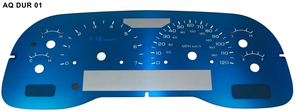 Dodge Dakota 2002-2003  120 Mph, 7000 Rpm Aqua Edition Gauges With White Numbers