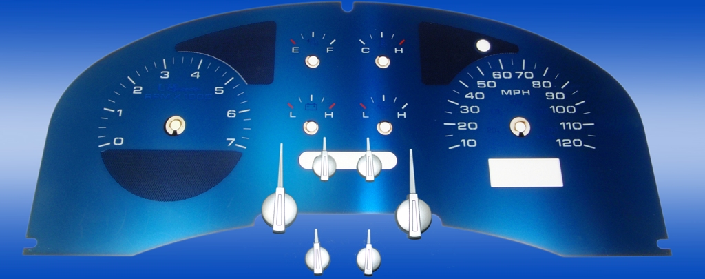 Ford F150 2004-2006 Fx4 Fx4, Fx2 Aqua Edition Gauges With White Numbers