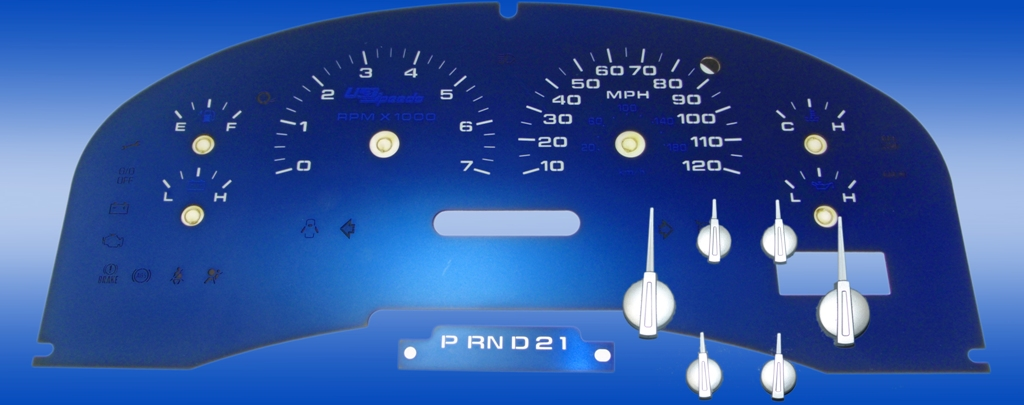 Ford F150 2004-2006 Xlt Xlt, Mph W/Tach Aqua Edition Gauges With White Numbers