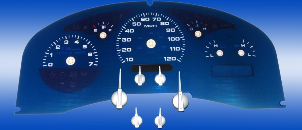 Ford F150 2004-2006 Lariat Only Lariat Aqua Edition Gauges With White Numbers
