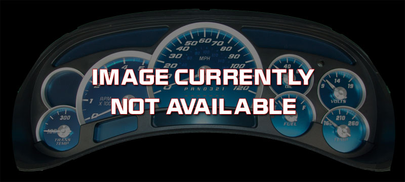 Ford Mustang 2005-2009 6cyl   4 Gauge 120 Mph 7000 Tach Aqua Edition Gauges With White Numbers