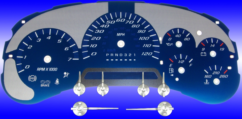 Gmc Envoy 2006-2009  120 Mph Aqua Edition Gauges With White Numbers