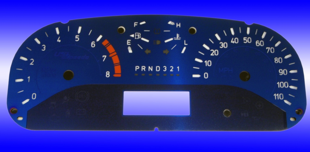 Hummer H3 2006-2007  Mph All Models Aqua Edition Gauges With White Numbers