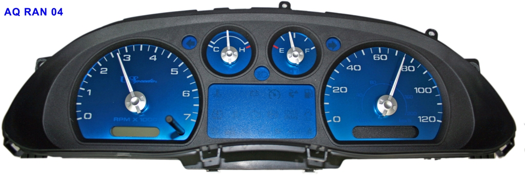 Ford Ranger 2004-2009  Mph, Tach Aqua Edition Gauges With White Numbers
