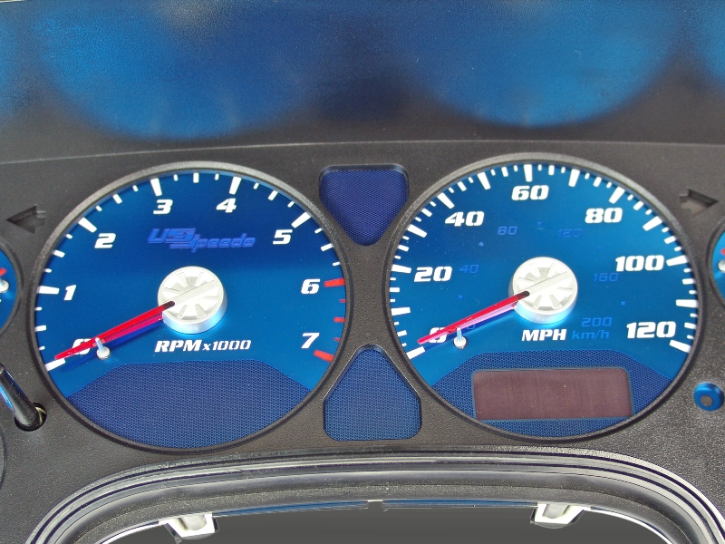 Dodge Ram 2006-2006 1500, 2500 120 Mph, 7000 Tach, Gas Aqua Edition Gauges With White Numbers