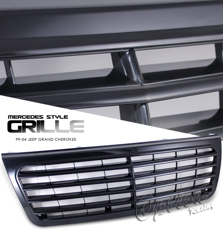 Jeep Grand Cherokee 1999-2004  Mb Style Black Front Grill