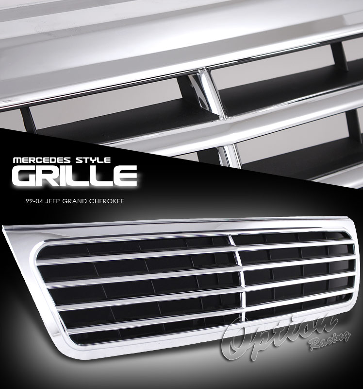 Jeep Grand Cherokee 1999-2004  Mb Style Chrome Front Grill