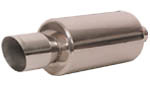 Arospeed Round Muffler w/ 4.5 in. Angle Cut Tip
