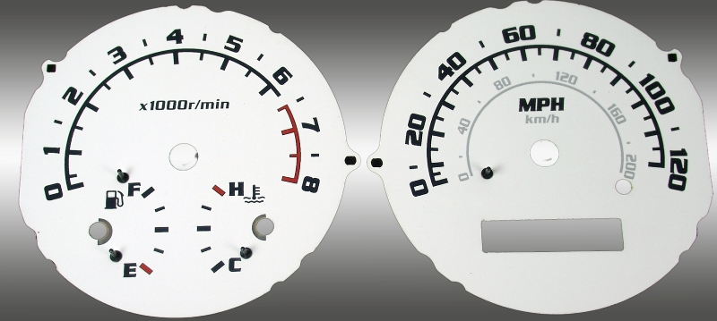 Chevrolet Aveo 2005-2009 With Tach White / Blue Night Performance Dash Gauges