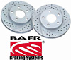 Ford 150 Lightning, Harley Davidson Edition 2003 Cross Drilled Baer Brake Rotors (Rear Pair)
