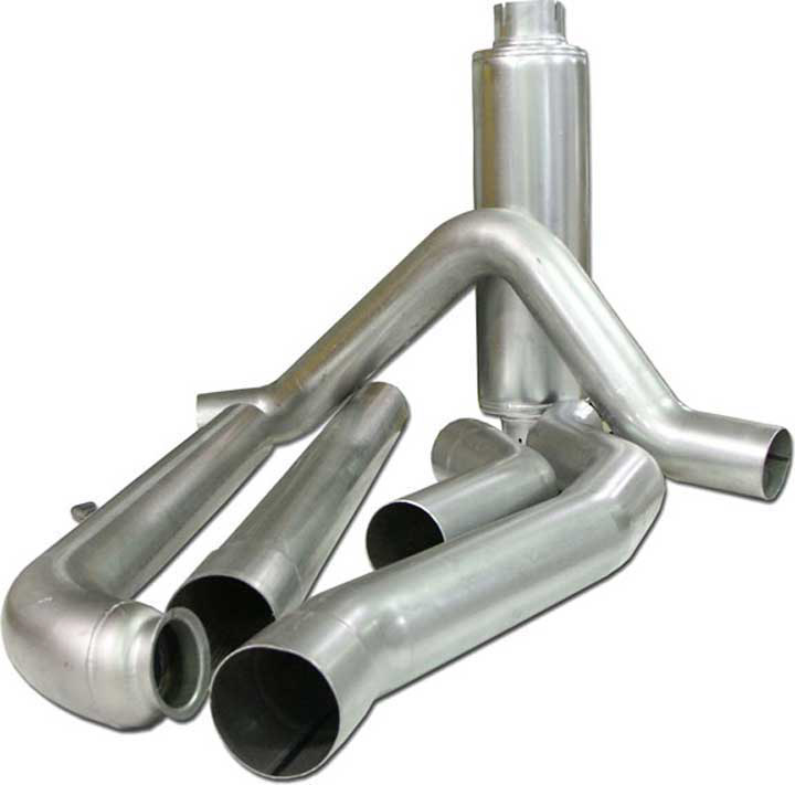 "Bully Dog 5"" Aluminized Exhaust System - 01-04 GMC Duramax Diesel LB7"