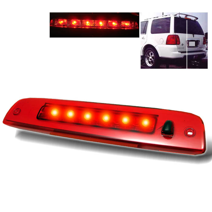Lincoln Navigator 2003-2006 Red Housing Led 3rd Brake Light