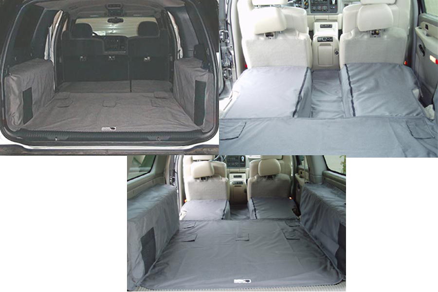 Chevrolet Suburban 00-05 Cargo Liner, models w/ Rear A/C, No Liftgate, Rear Speaker, Captains Chairs 2nd Row, 3rd Row Bench