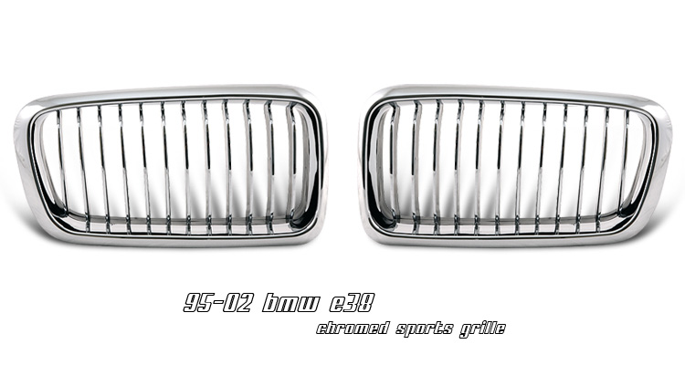 BMW 7 Series 1995-2002 Chrome Grill Insert