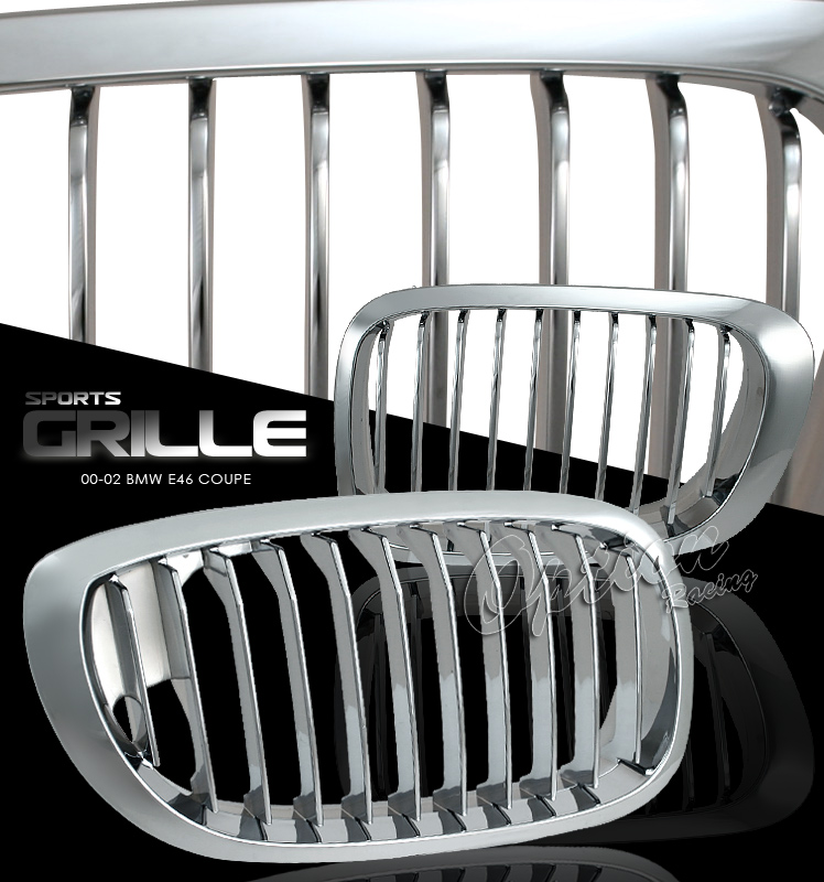 Bmw 3 Series 2000-2002 2dr  Chrome Front Grill