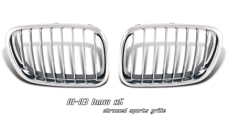BMW X5 2001-2003 Chrome Grill Insert