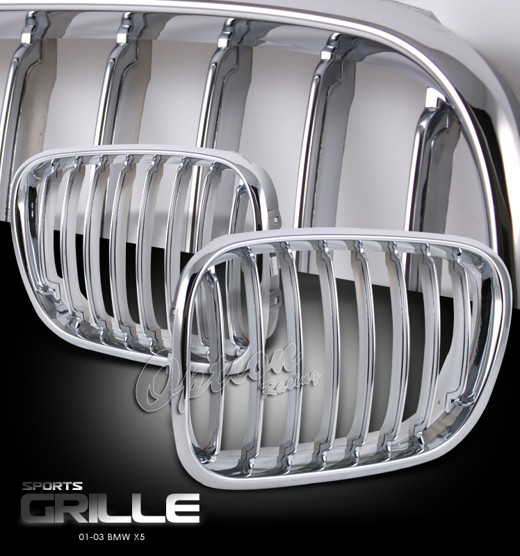 Bmw X5 2001-2003   Chrome Front Grill