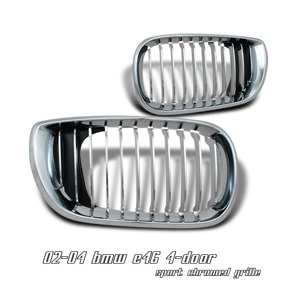 Bmw 3 Series 2002-2004 4dr  Chrome Front Grill