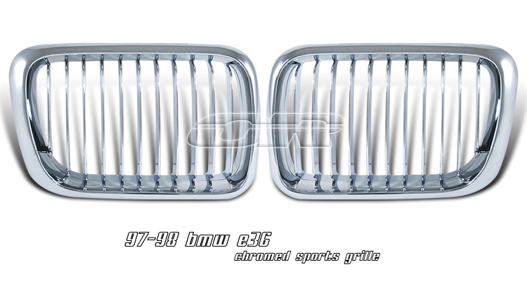 Bmw 3 Series 1997-1998   Chrome Front Grill