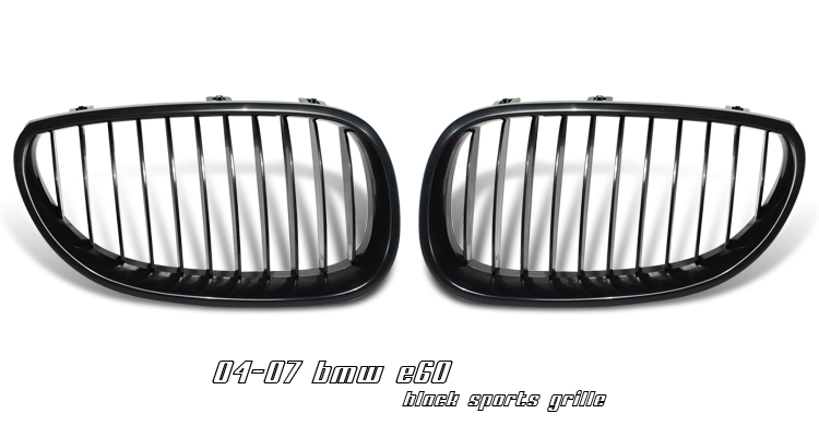 Bmw 5 Series 2004-2007  Black Front Grill